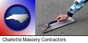 Charlotte, North Carolina - a masonry contractor using a trowel